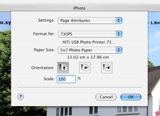 The very popular iPhoto Software has no problem recognising & printing to HiTi Photo Printers